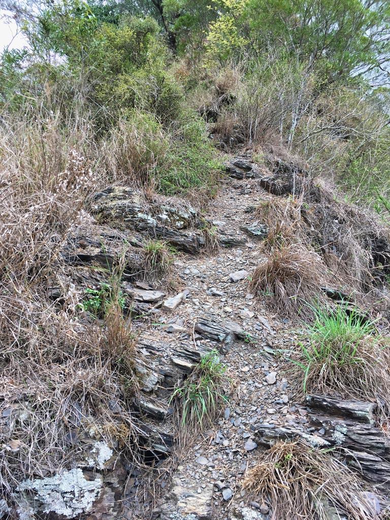 Rocky ridge climb