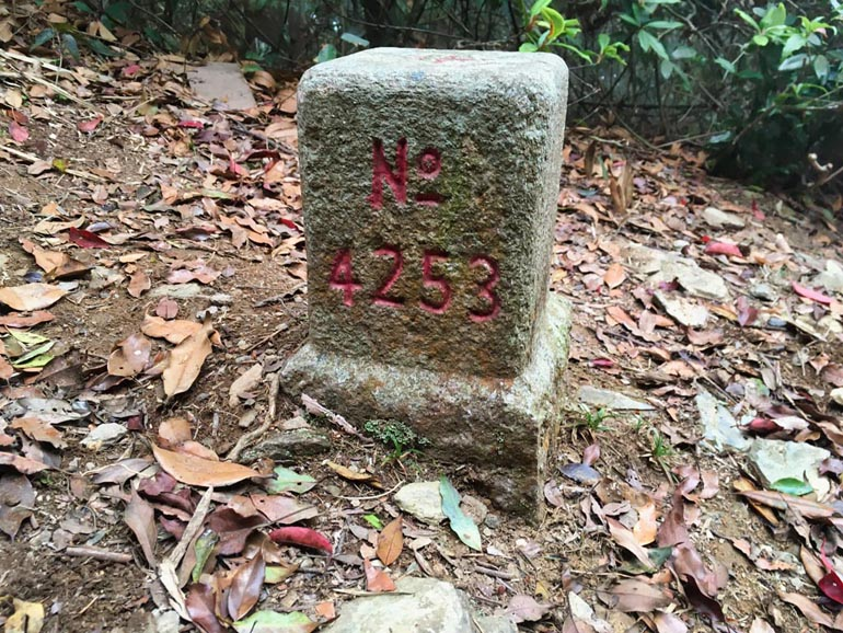 ShiKeJian 石可見山 Triangulation marker