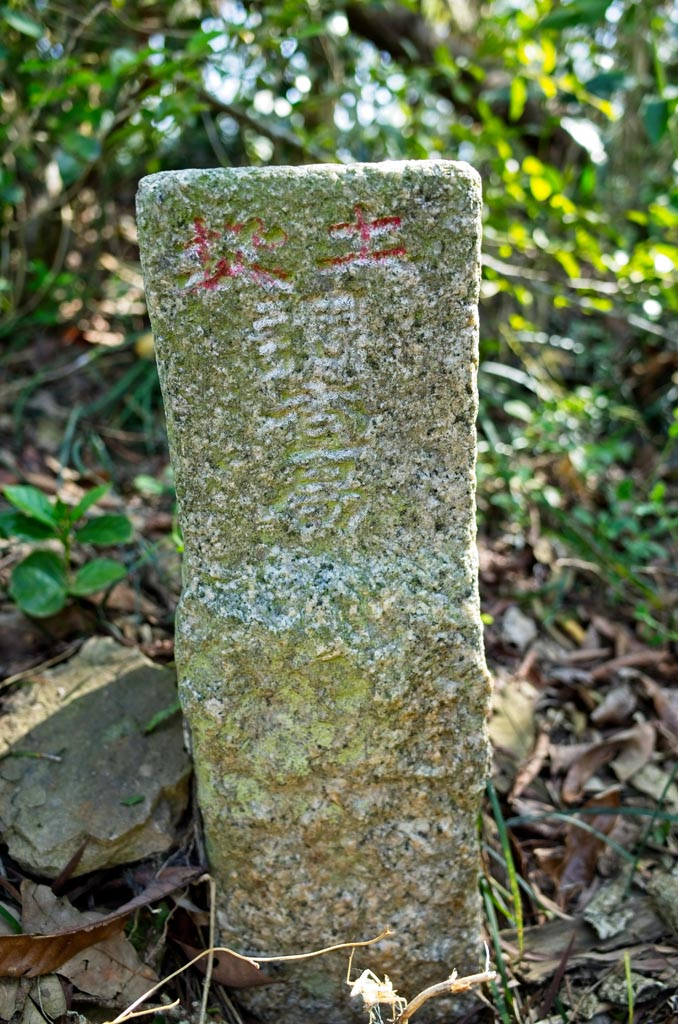 Lion Head Mountain - 獅子頭山 Triangulation marker other side