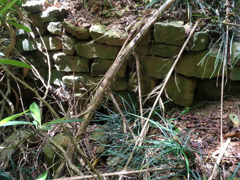 Stacked rocks - possible foundation