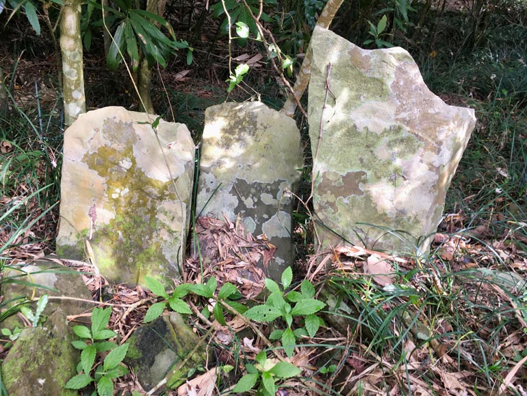 Three stones sticking out of the ground