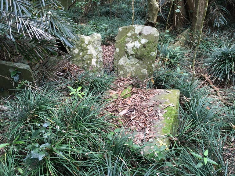 Large stones and tall-ish grass