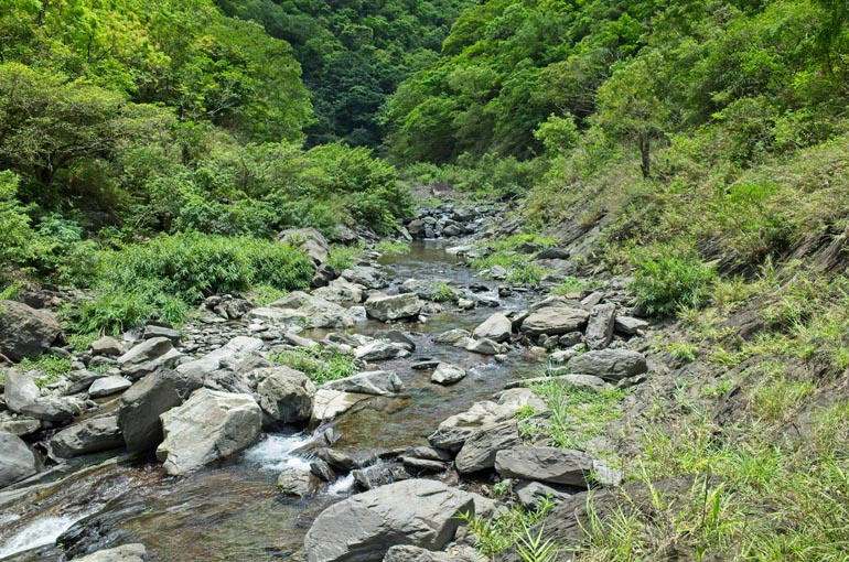 Rocky riverbed - small