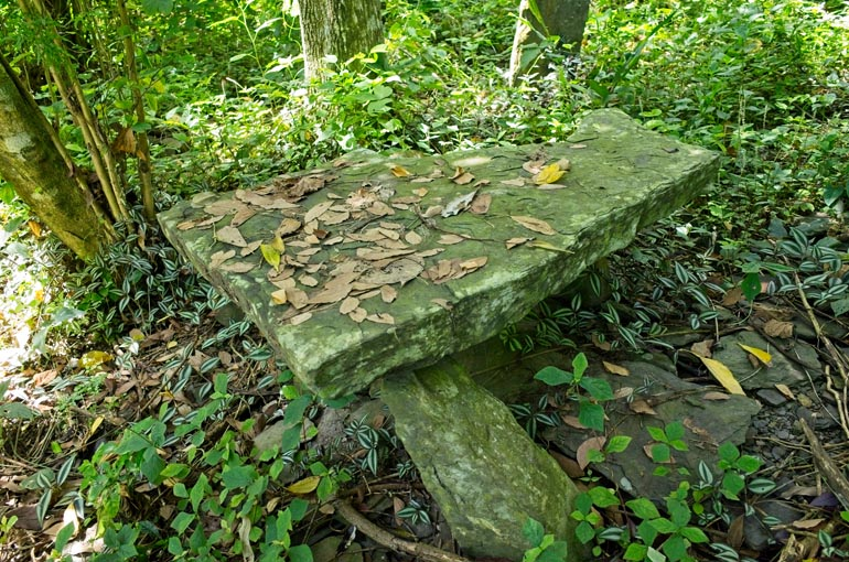 Large stone that looks like a table