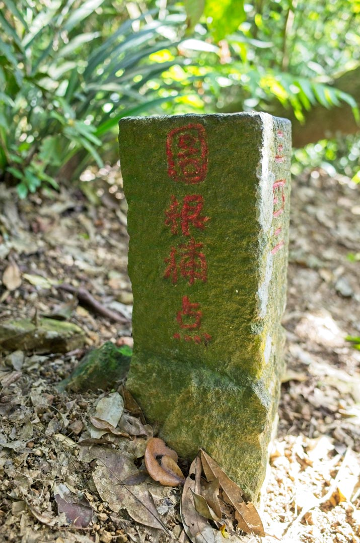 Back of Pengjixiashan 棚集下山 triangulation marker